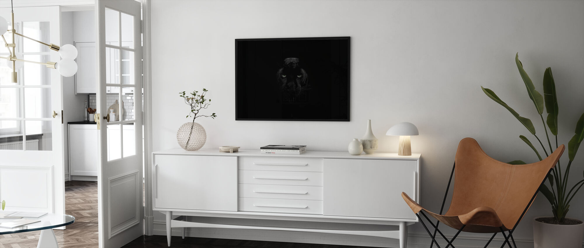 Panther Monochrom - Poster - Wohnzimmer