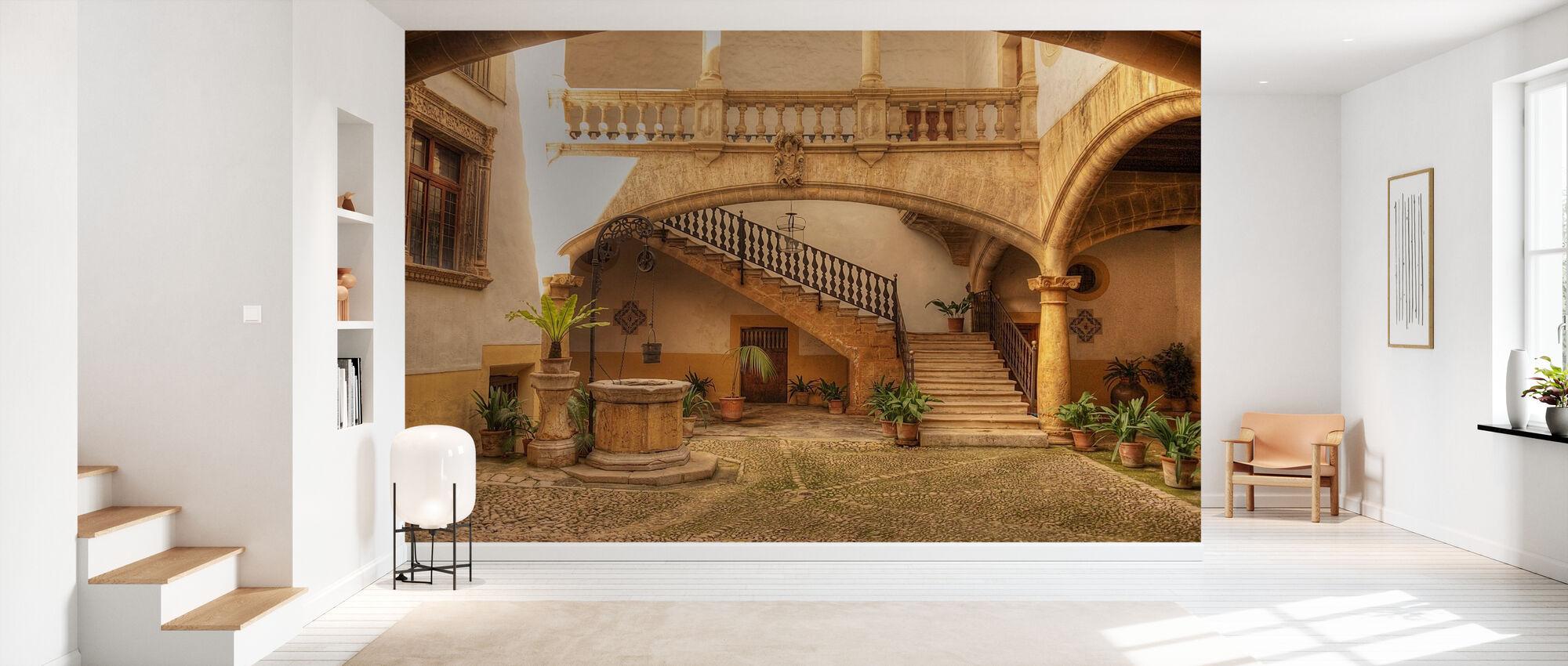 Mediterranean Courtyard - Wallpaper - Hallway