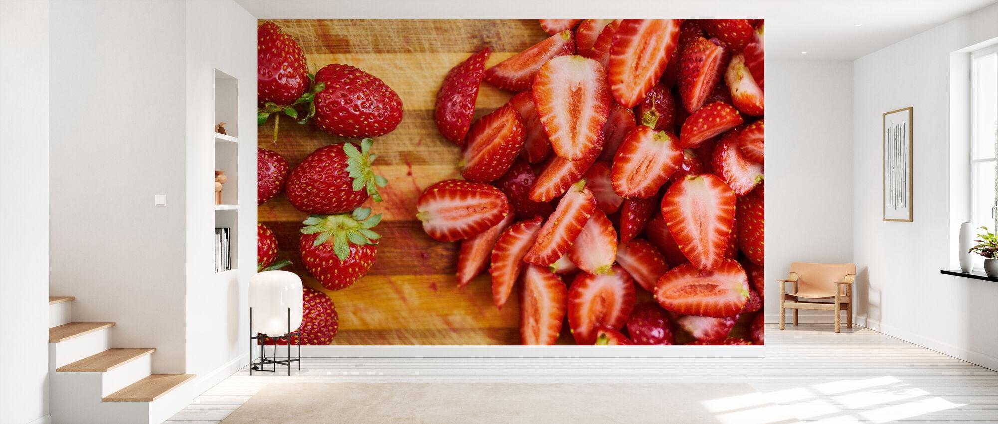 Erdbeerfrüchte - Tapete - Flur