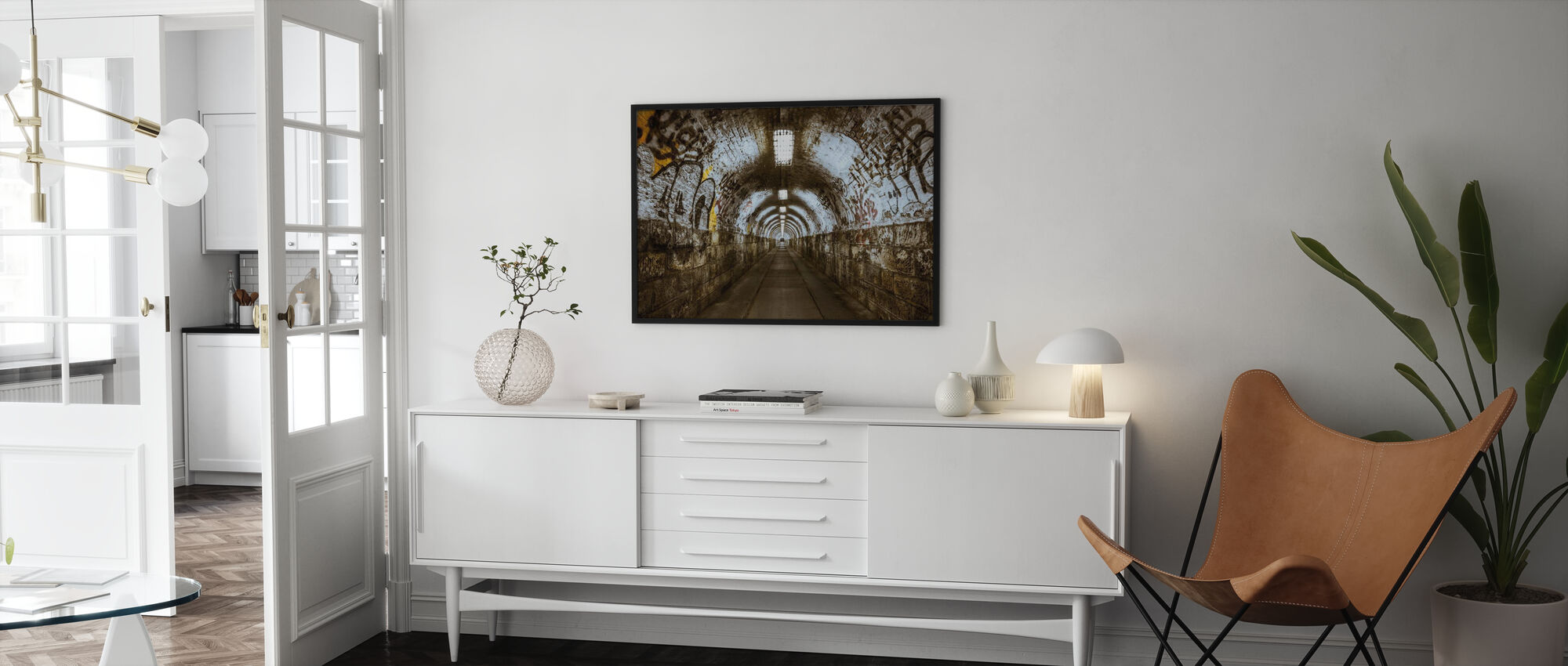 Underground Tunnel - Poster - Living Room