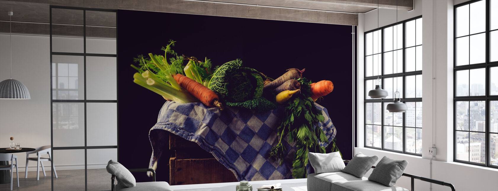 Groenten - Behang - Kantoor