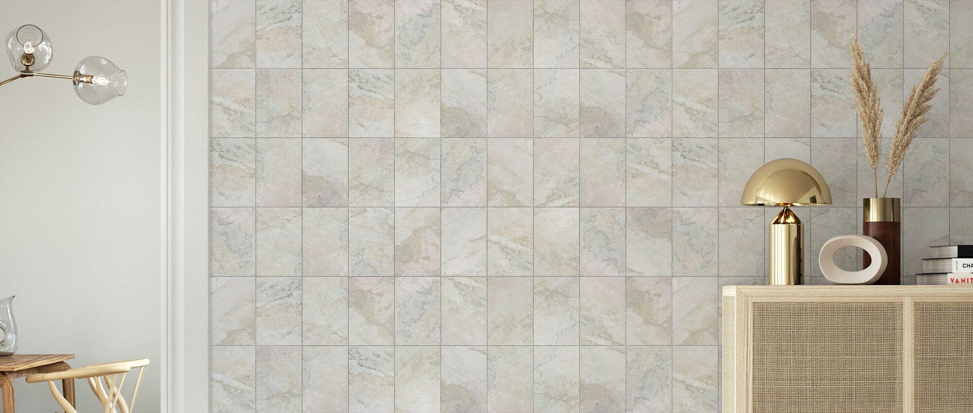 Seamless Marble Tiles - Wallpaper - Living Room