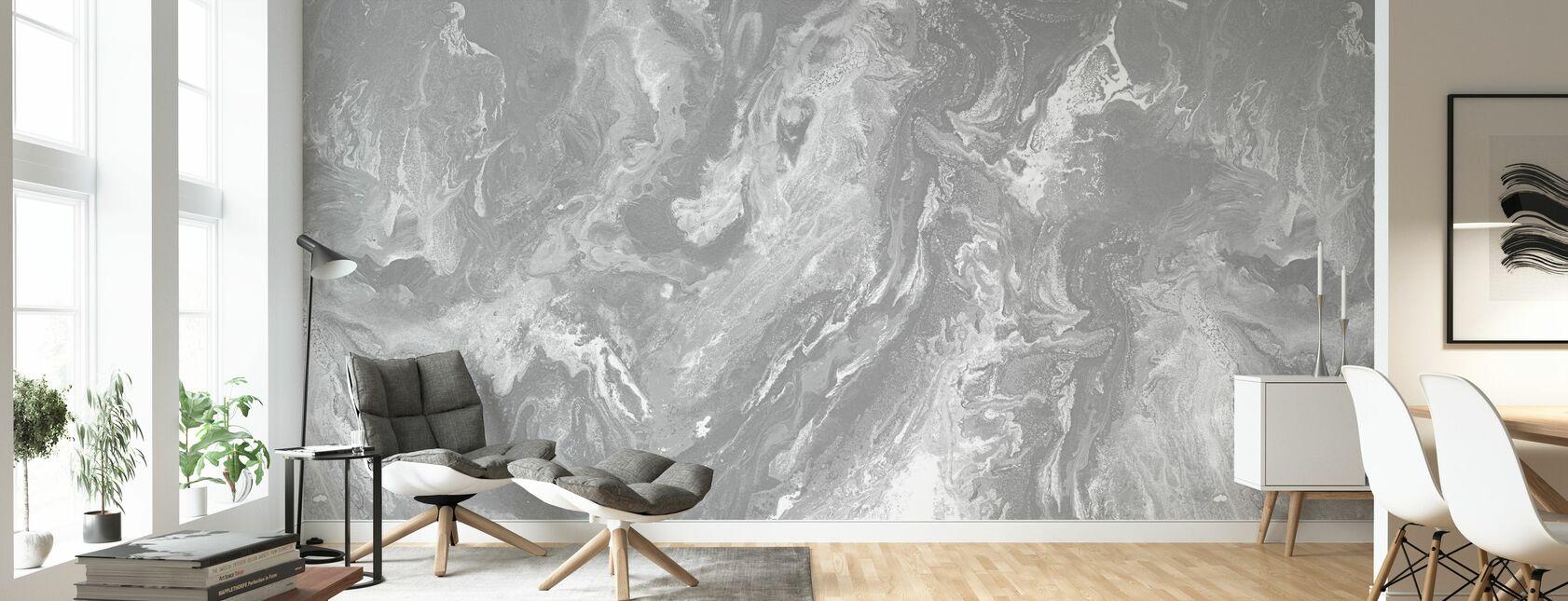 Brume - Granite - Wallpaper - Living Room