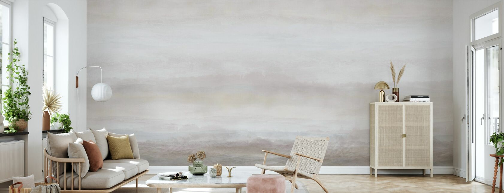 Vista - Sand - Wallpaper - Living Room