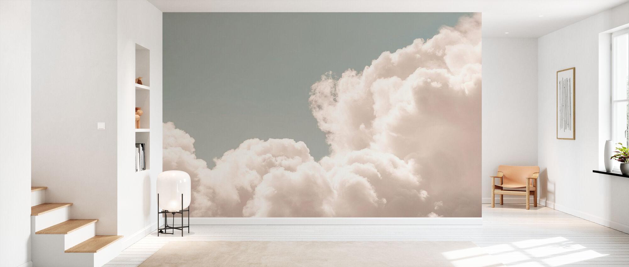 Blush Clouds Daydream - Wallpaper - Hallway