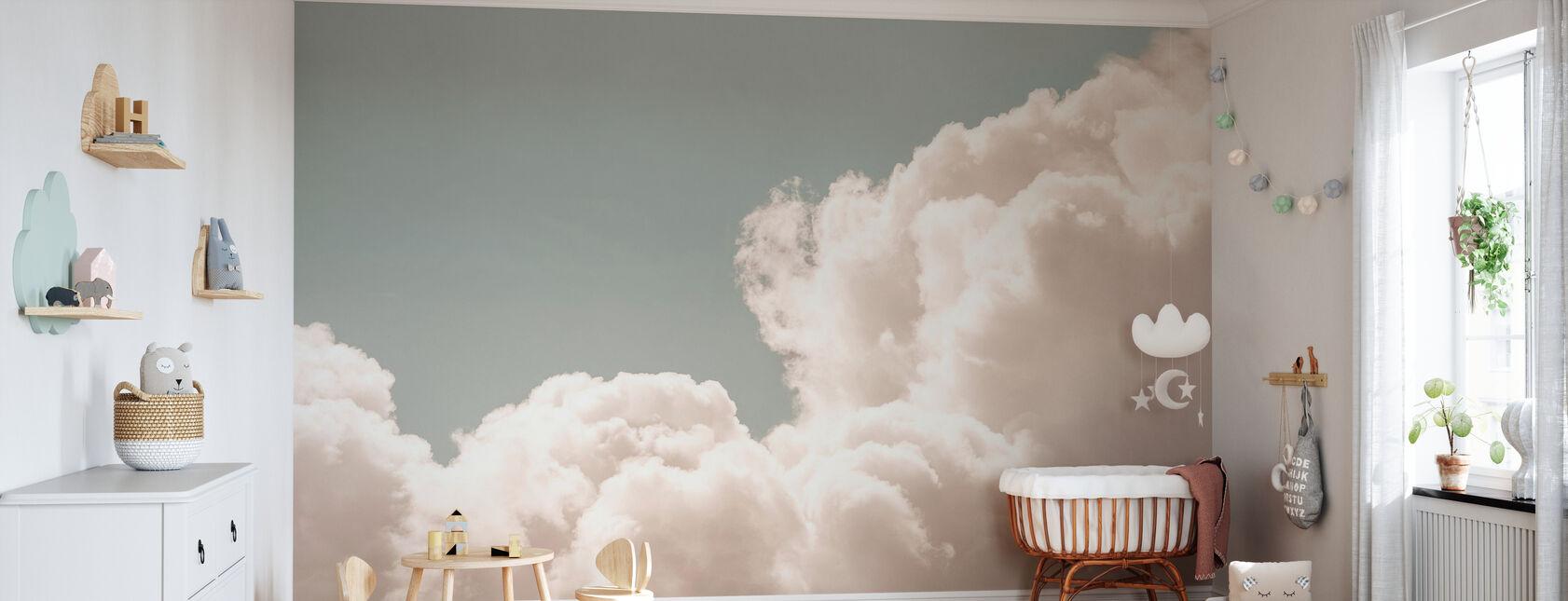 Blozen Wolken Dagdroom - Behang - Babykamer