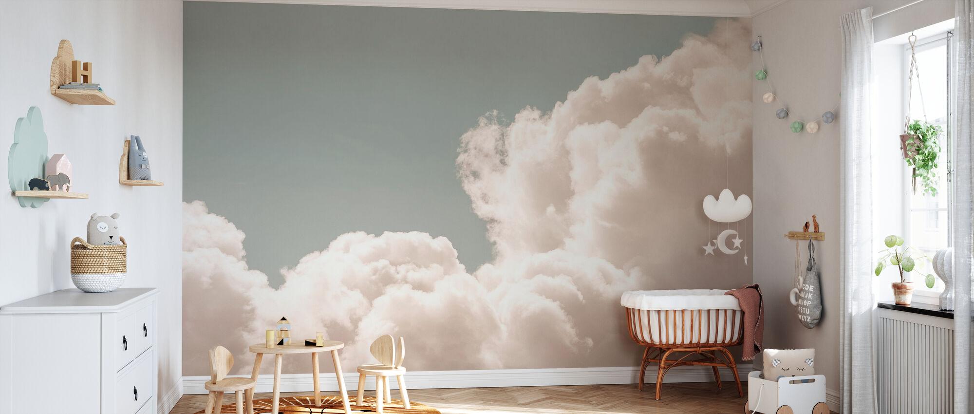 Blush moln dagdröm - Tapet - Babyrum