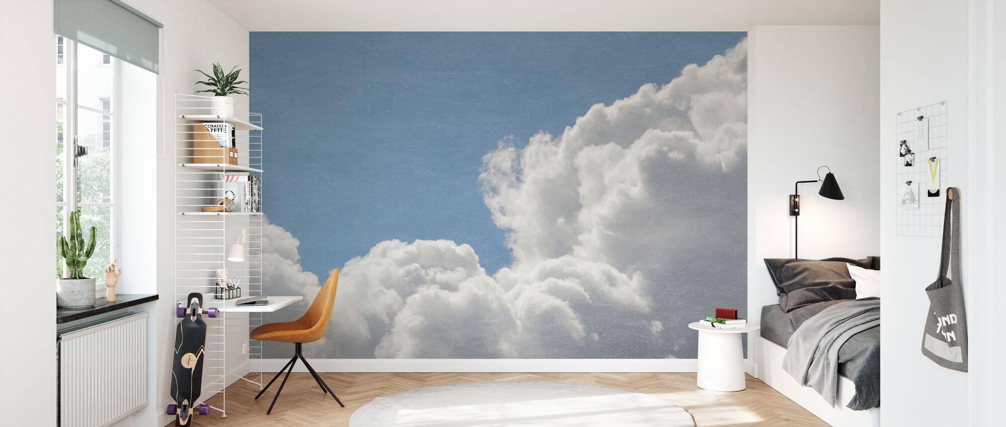 Blush Clouds Filter - Wallpaper - Kids Room