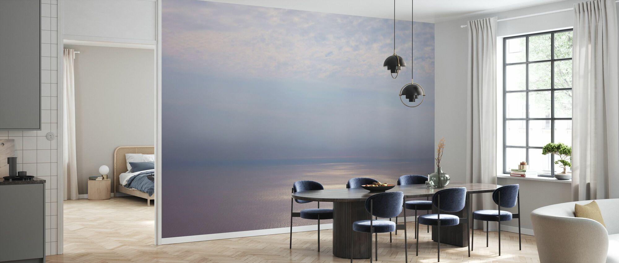Smoke Horizon Zilver - Behang - Keuken