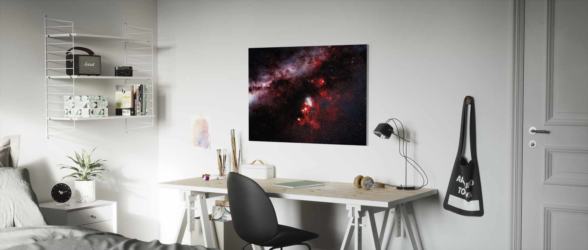 Pimeys galaksissa - Canvastaulu - Lastenhuone