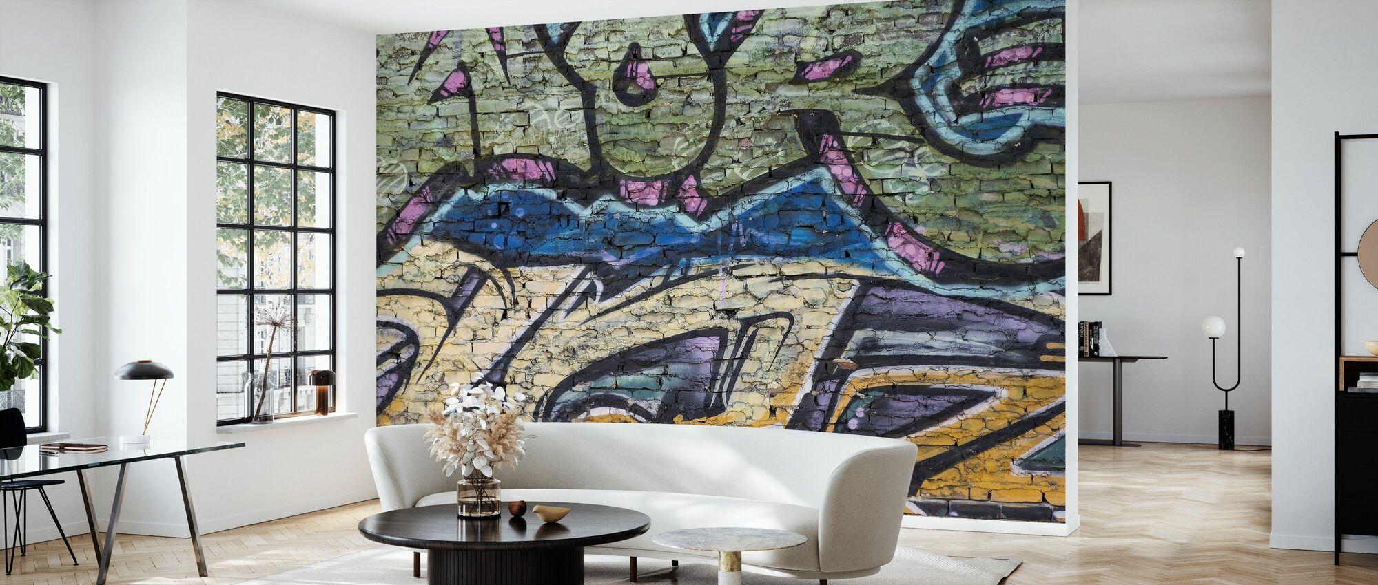 Street Art Wall - Wallpaper - Living Room