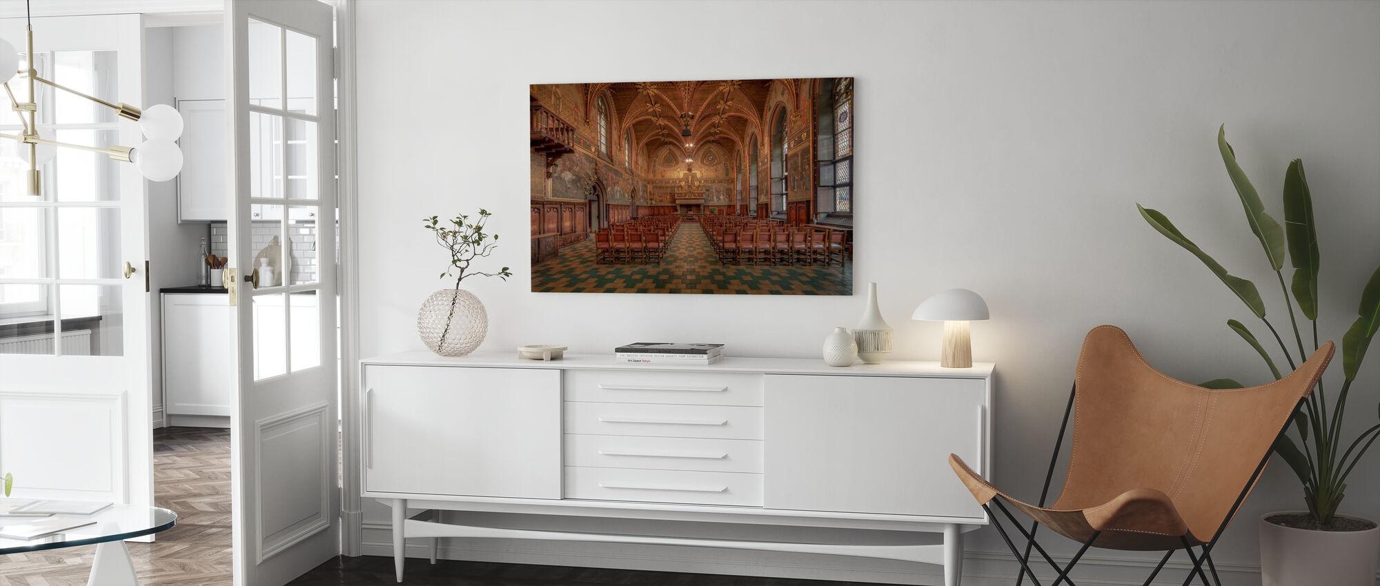 Bruges City Hall - Canvas print - Living Room