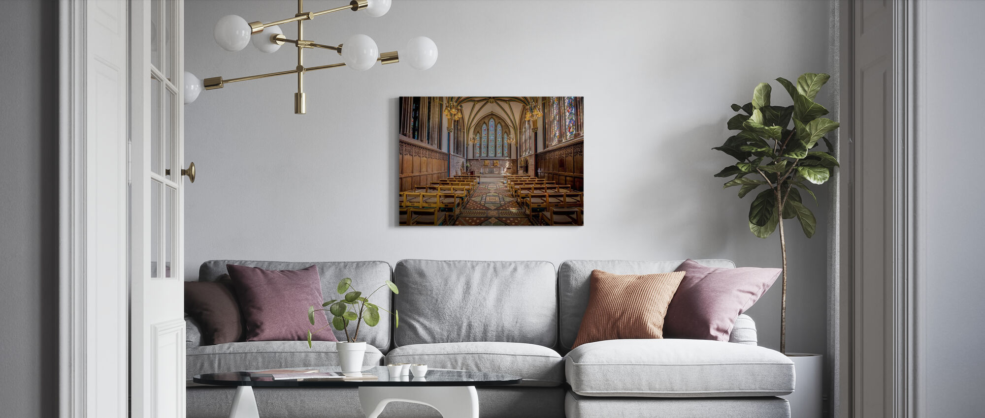 Vrouw-kapel - Canvas print - Woonkamer