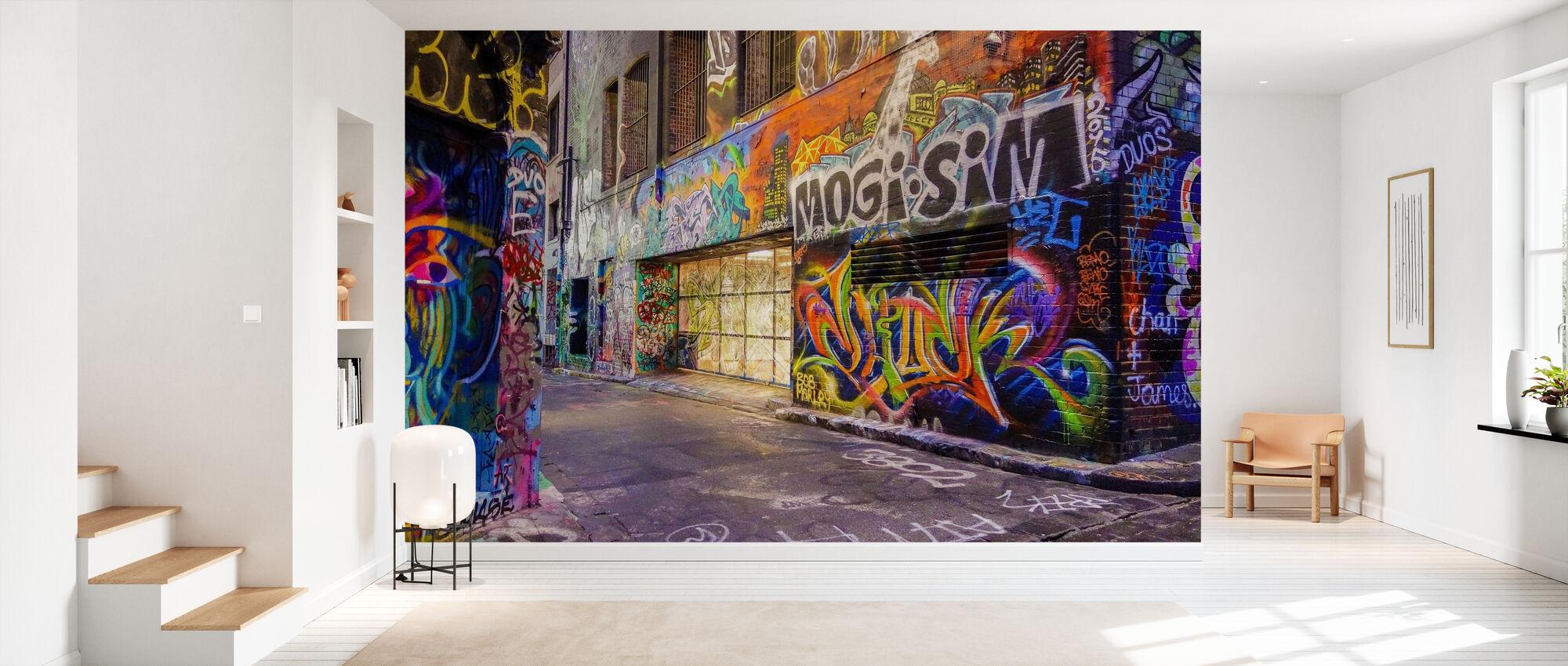 Graffiti de rue coloré - Papier peint - Entrée