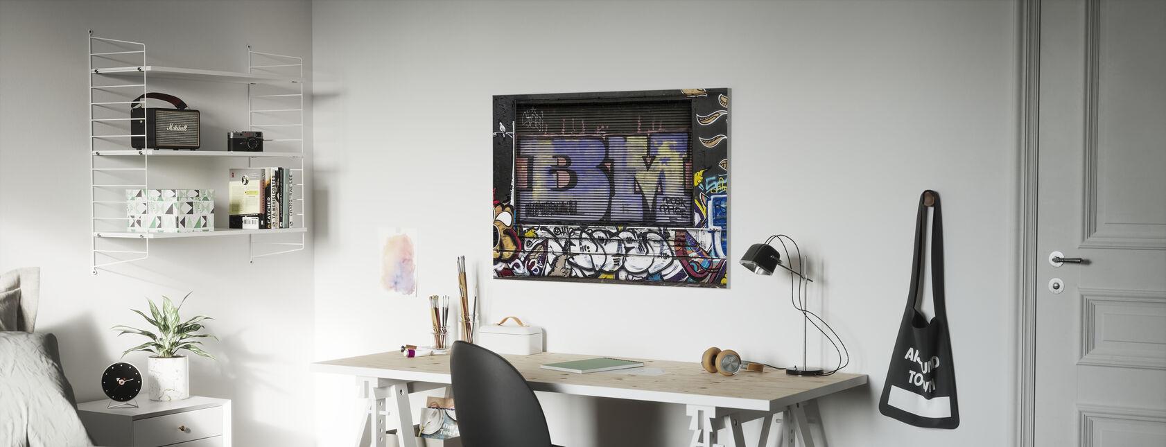 Street Graffiti Wall - Canvas print - Kids Room