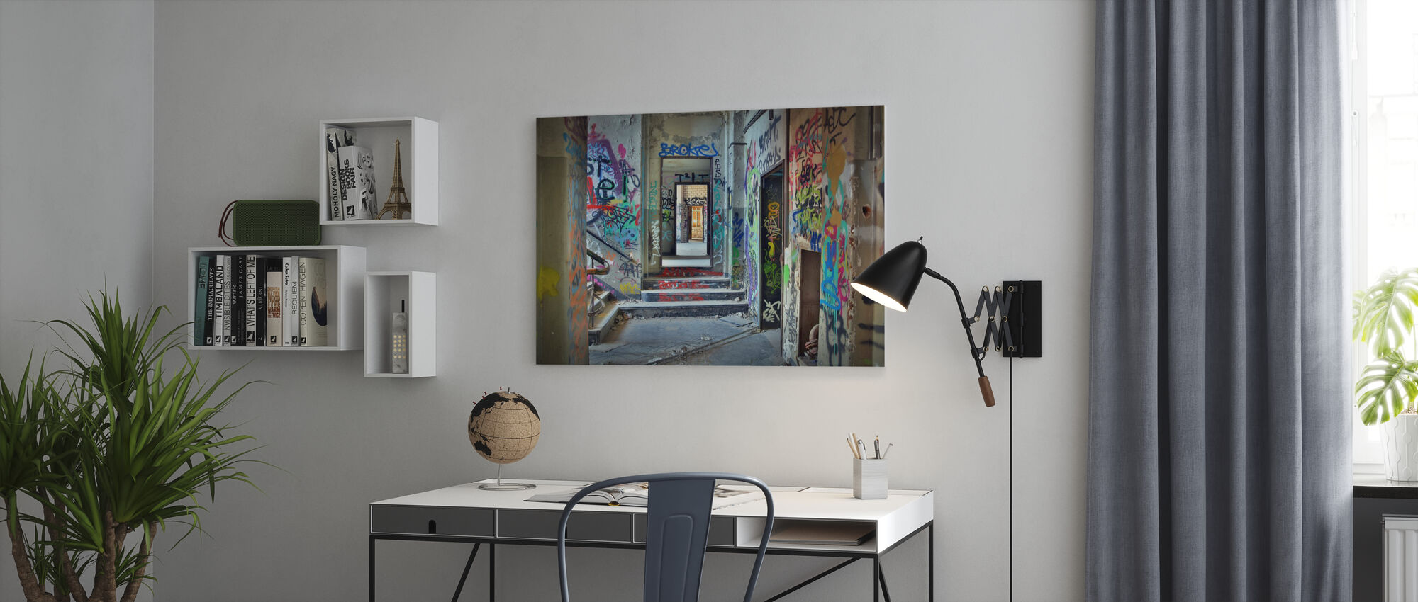 Industrial Building Ruins - Canvas print - Office