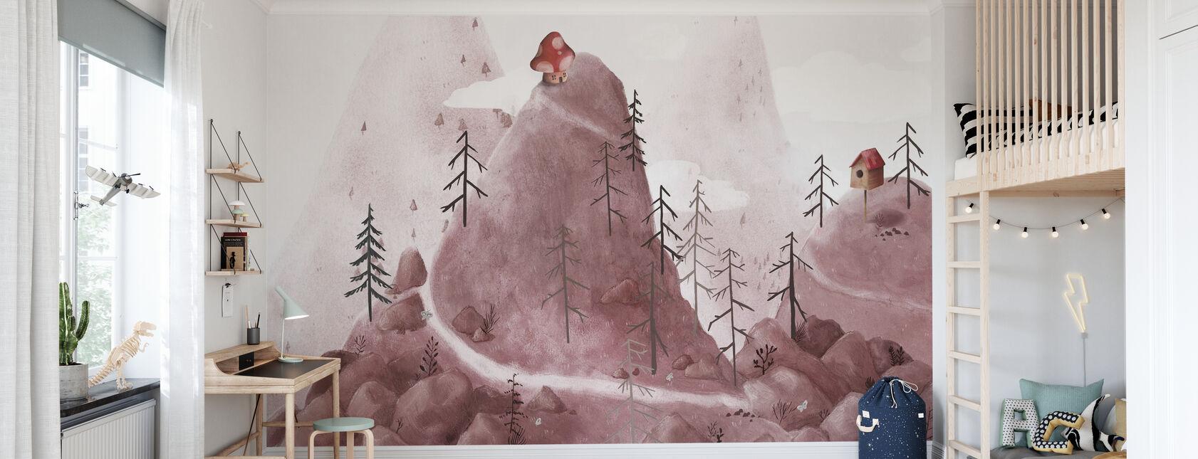 Birdhouse Fantasy Góry - Tapeta - Pokój dziecięcy