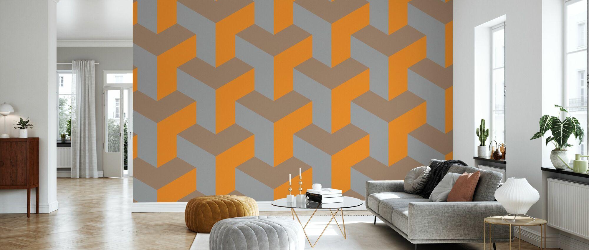 T Dog Grained - Wallpaper - Living Room