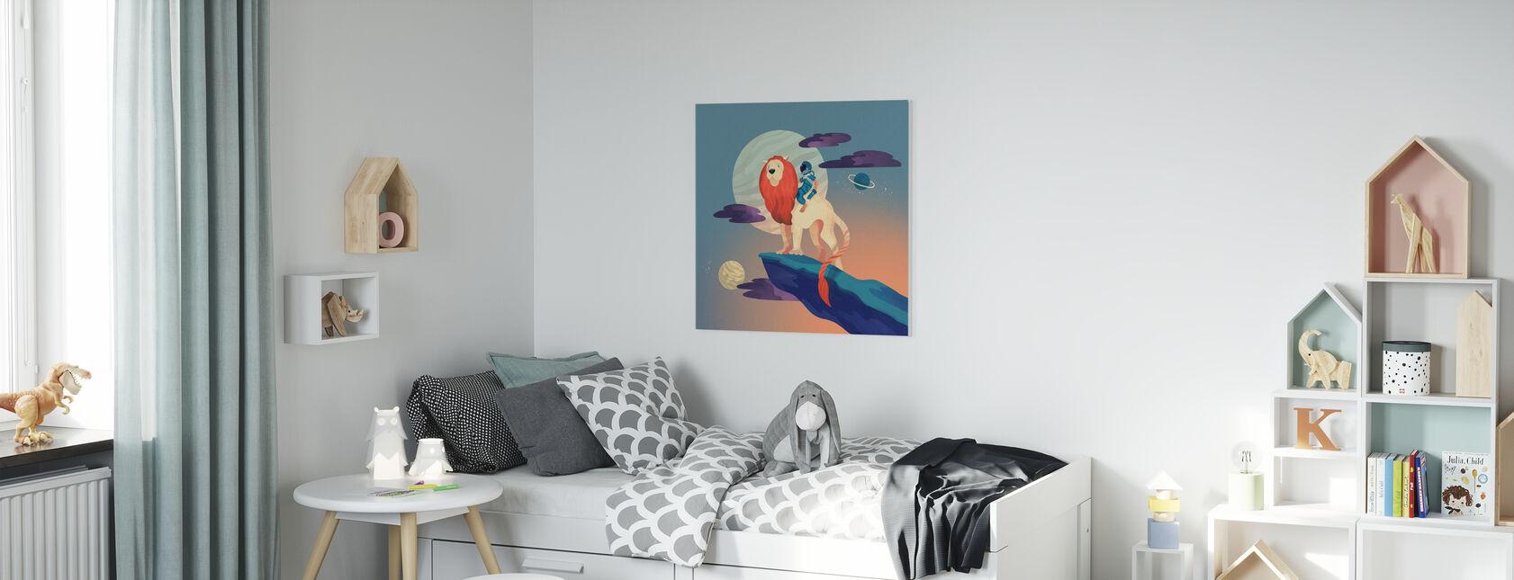 Space Lion - Canvas print - Kids Room