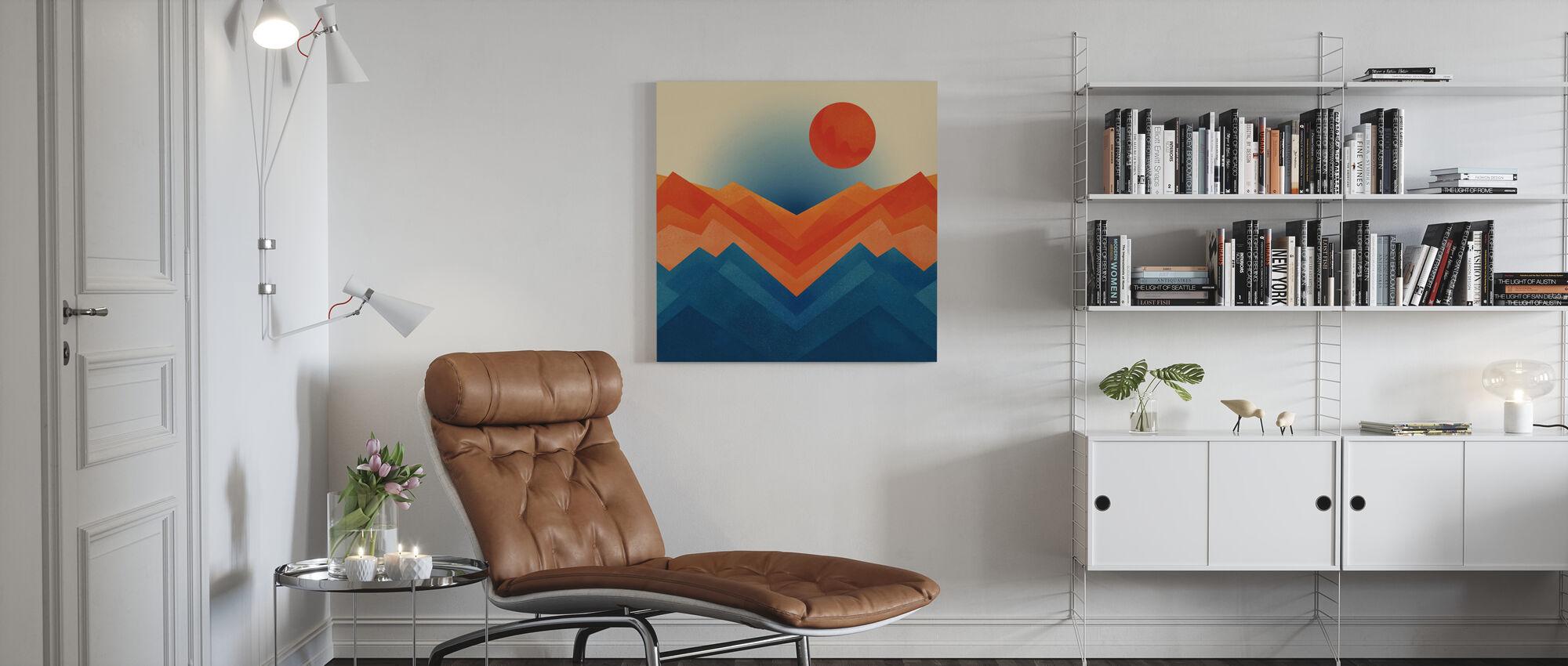 Happy Mountain nr 2 - Canvas print - Living Room