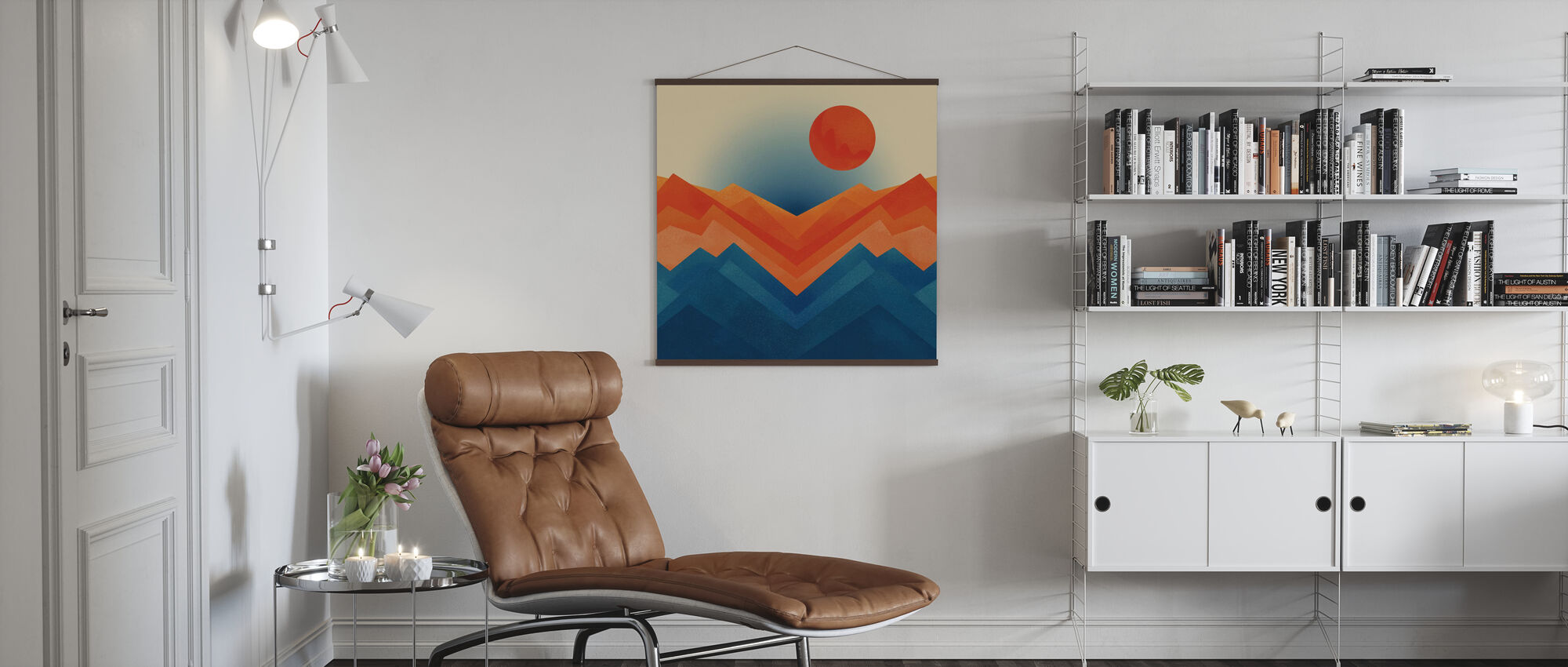 Happy Mountain nr 2 - Poster - Living Room