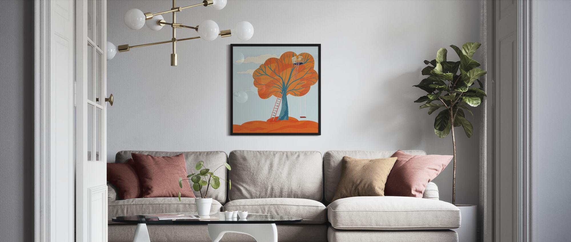 Herbstbaumhaus - Poster - Wohnzimmer
