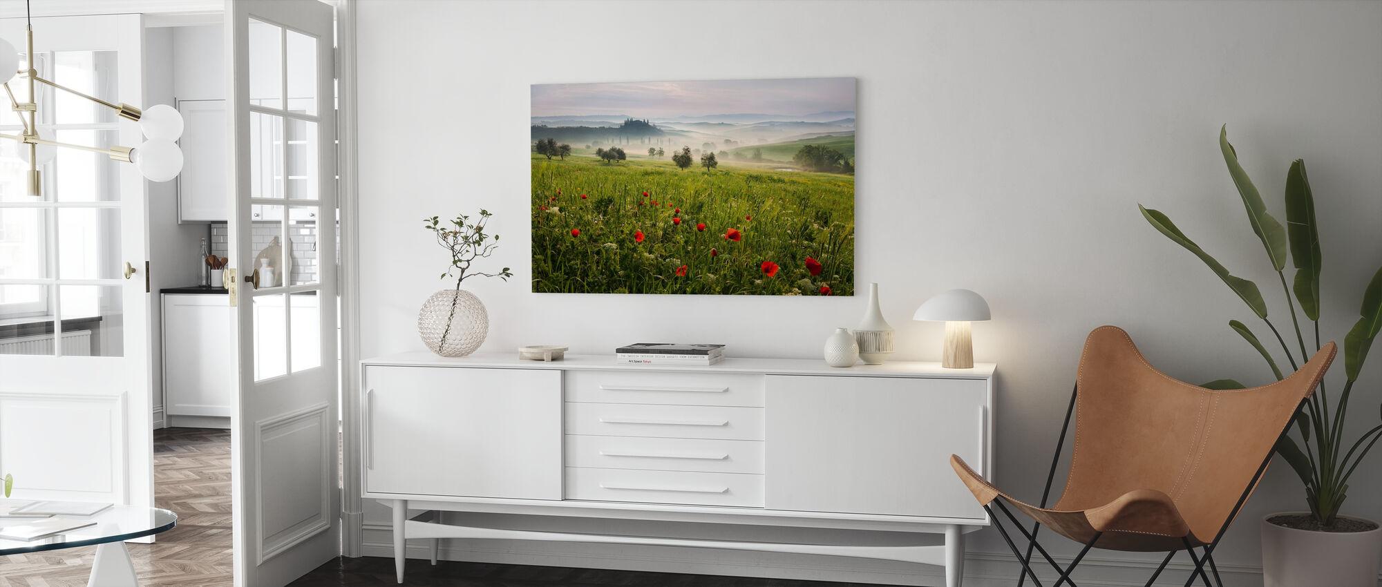 Toskanska våren - Canvastavla - Vardagsrum