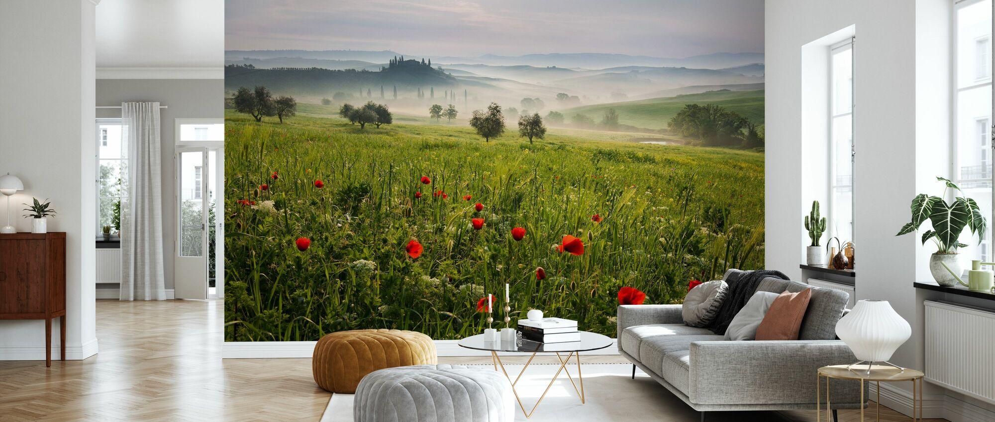 Tuscan Spring - Wallpaper - Living Room