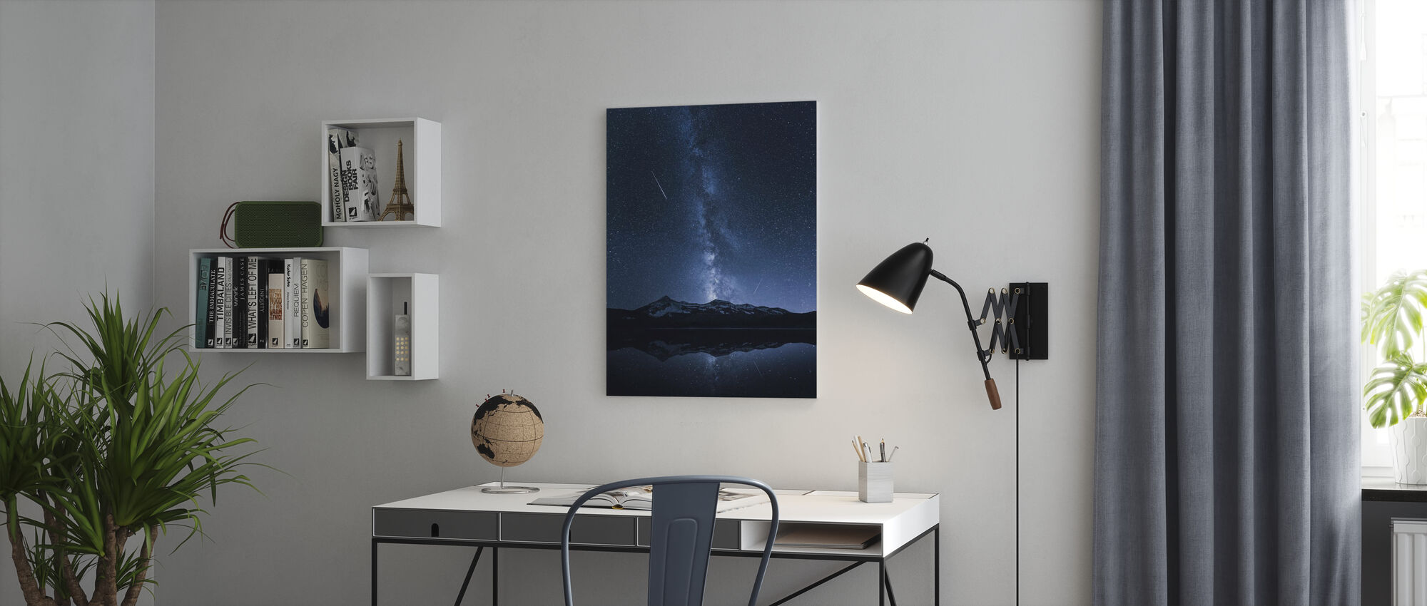 Galaxies Reflection - Canvas print - Office
