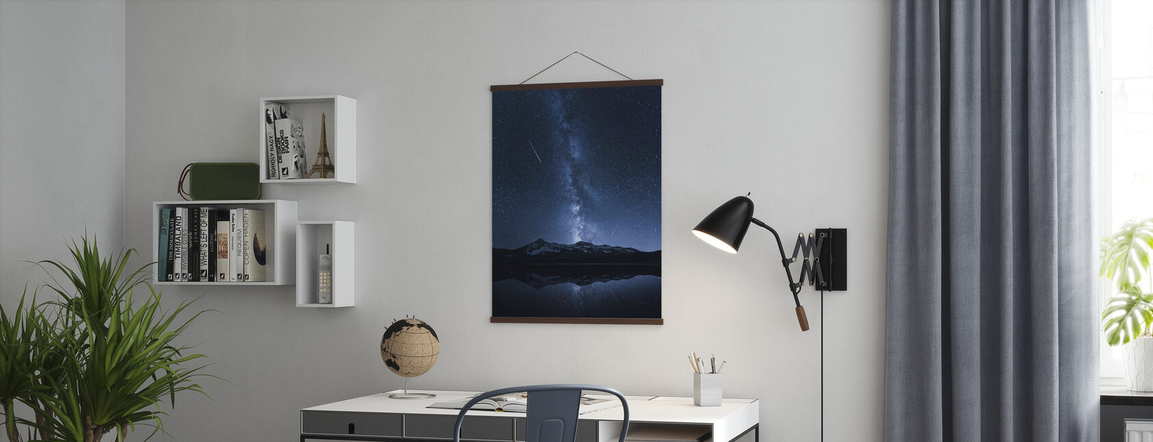 Galaxies Reflection - Poster - Office