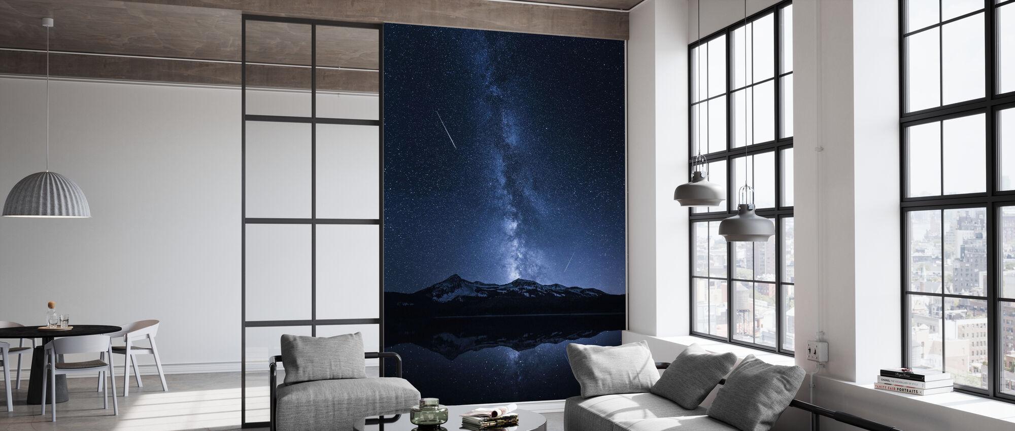 Melkwegstelsels Reflectie - Behang - Kantoor