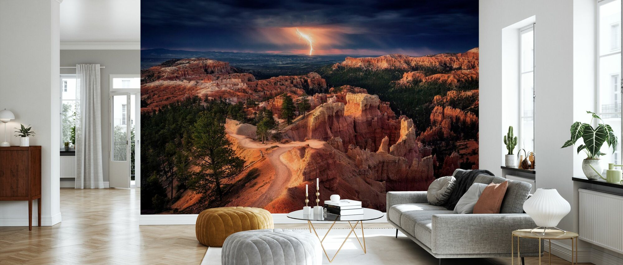 Lightning over Bryce Canyon - Wallpaper - Living Room