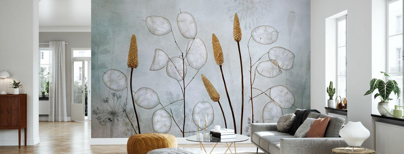 Lunaria - Tapete - Wohnzimmer