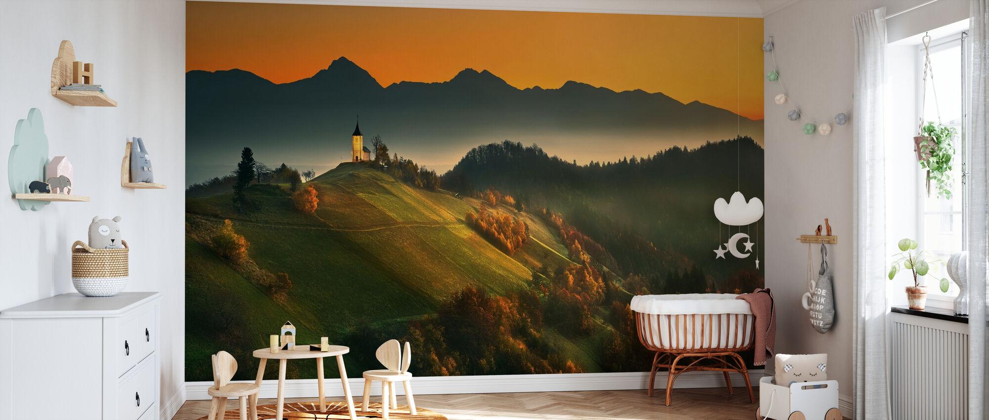 Sloveense herfst - Behang - Babykamer