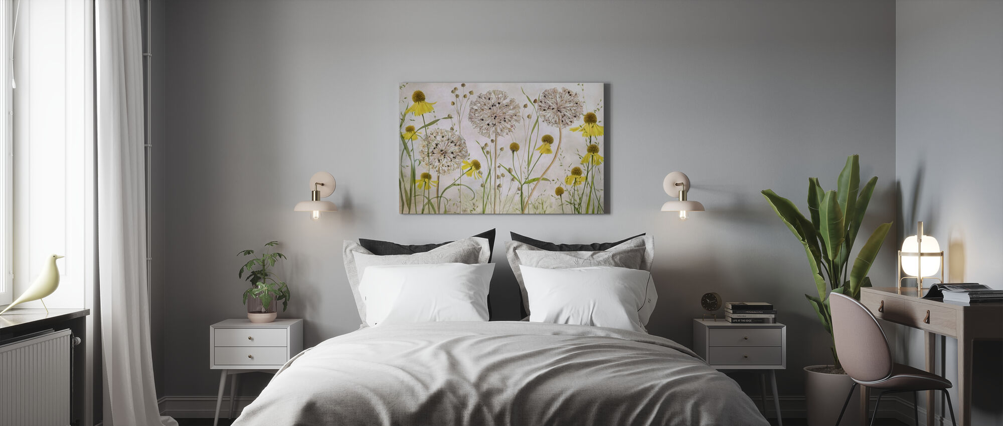 Alliums and Heleniums - Canvas print - Bedroom