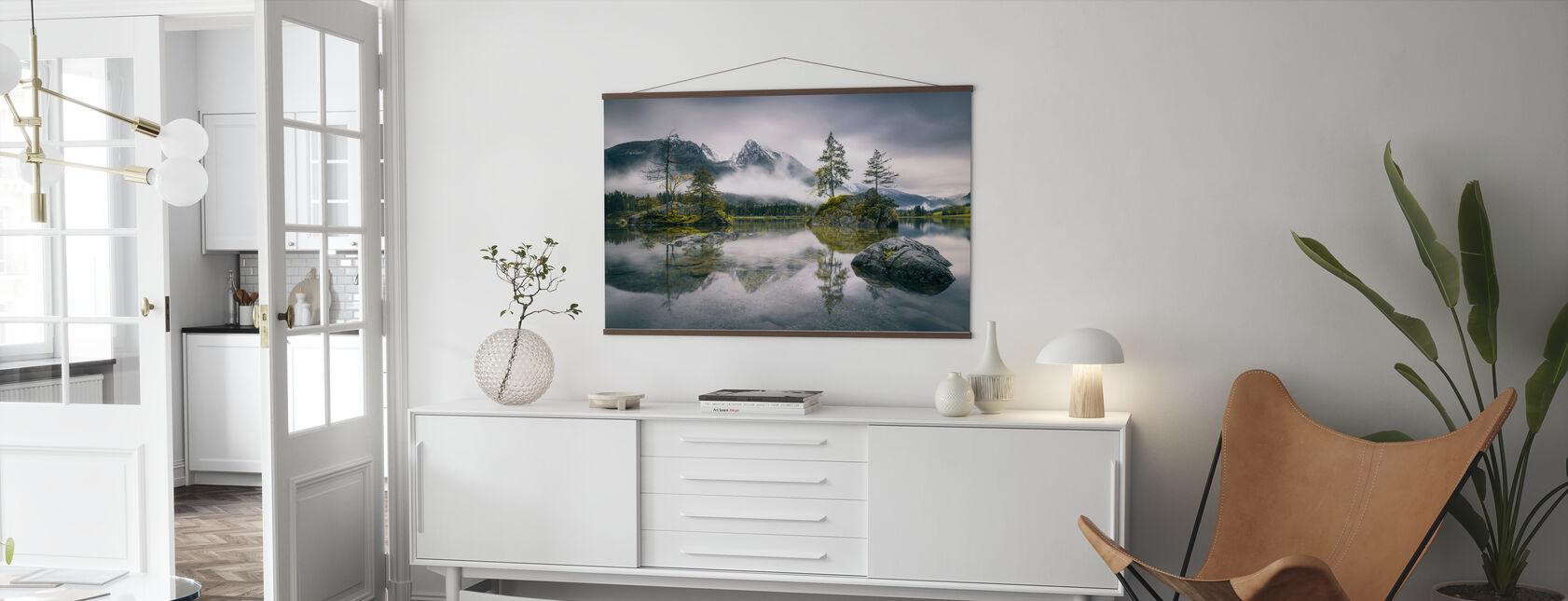 Rainy Morning at Hintersee (Bavaria) - Poster - Living Room