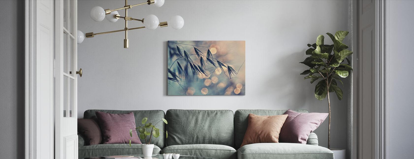 Leaves lys - Lerretsbilde - Stue