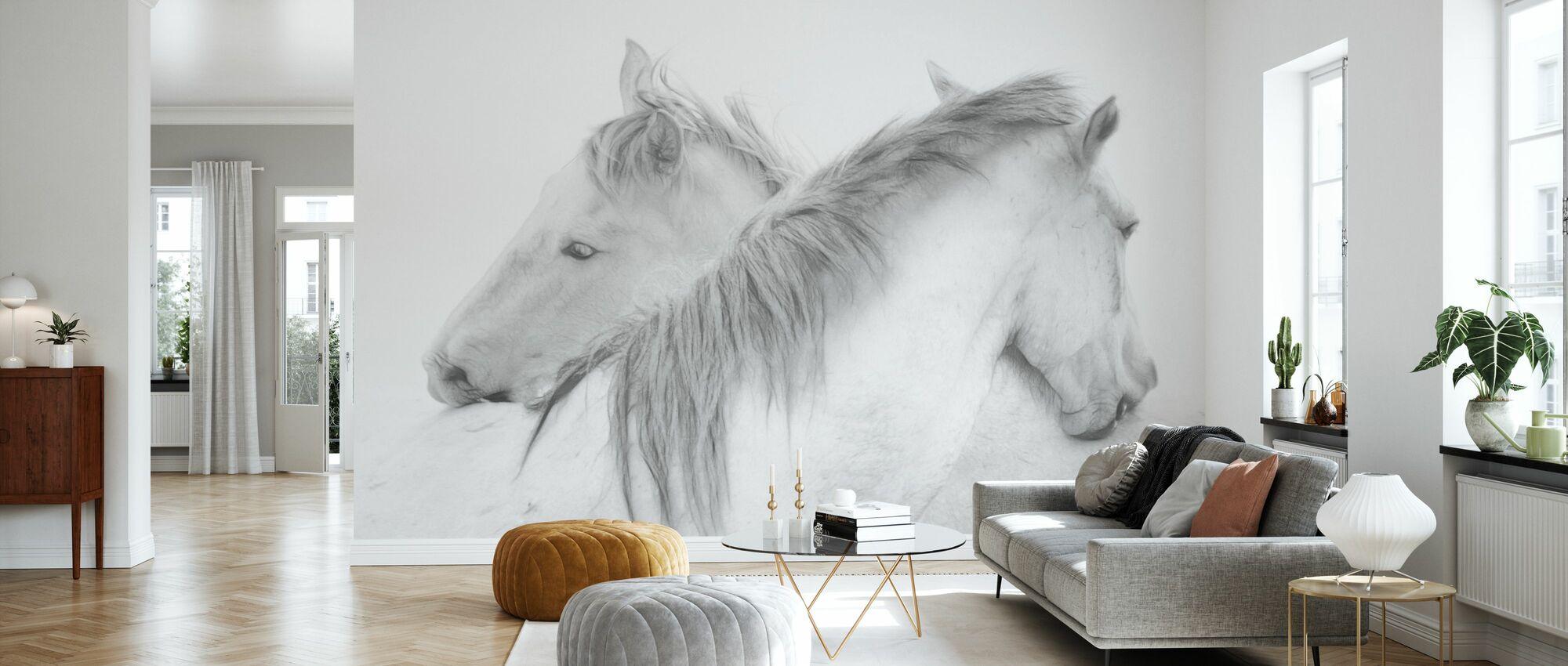 Horses - Wallpaper - Living Room