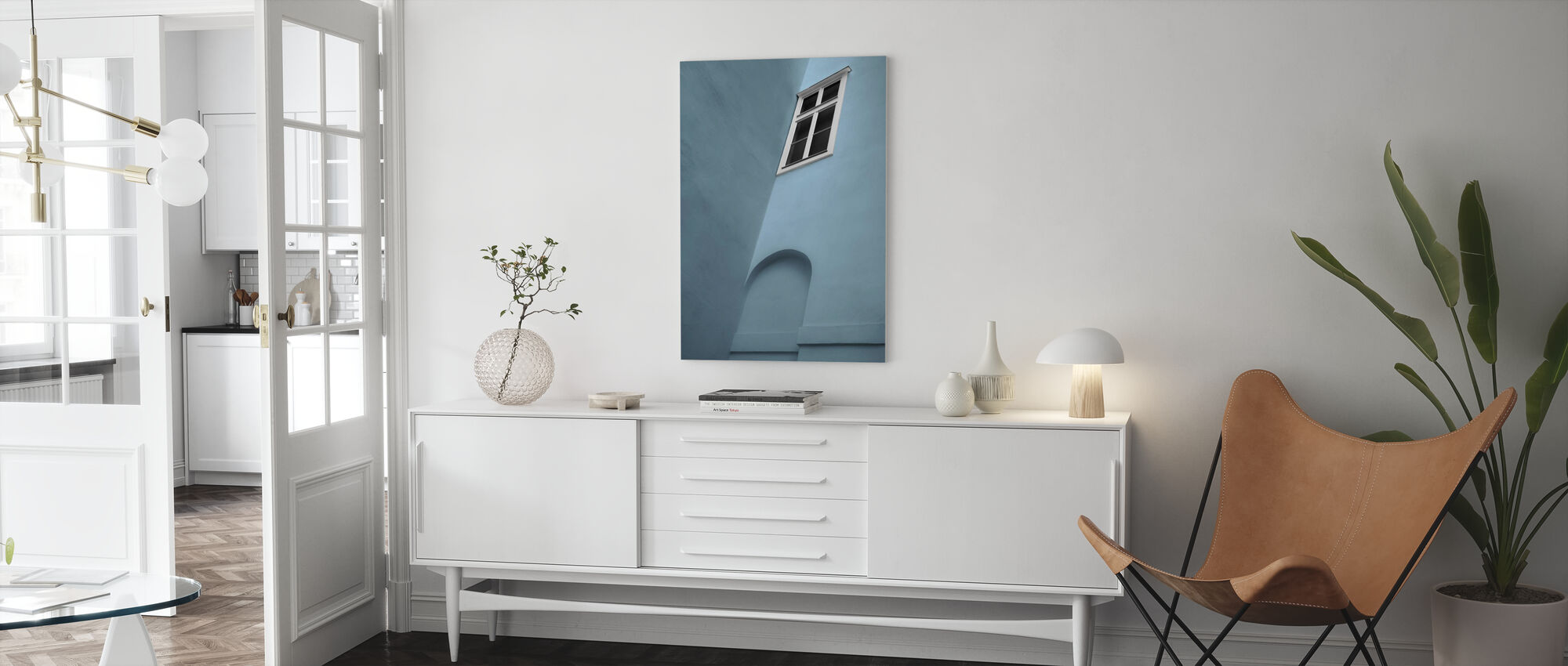 Wit venster - Canvas print - Woonkamer