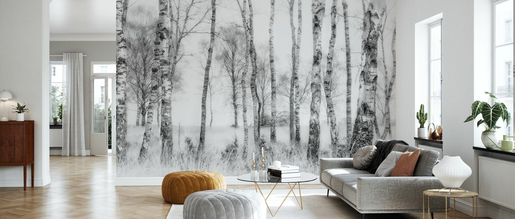 Black and White - Wallpaper - Living Room