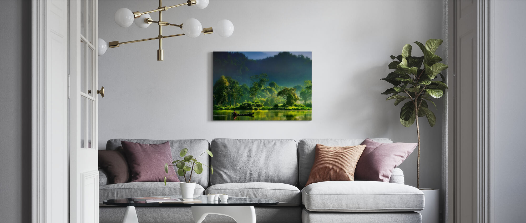 Painting of Nature - Canvas print - Living Room