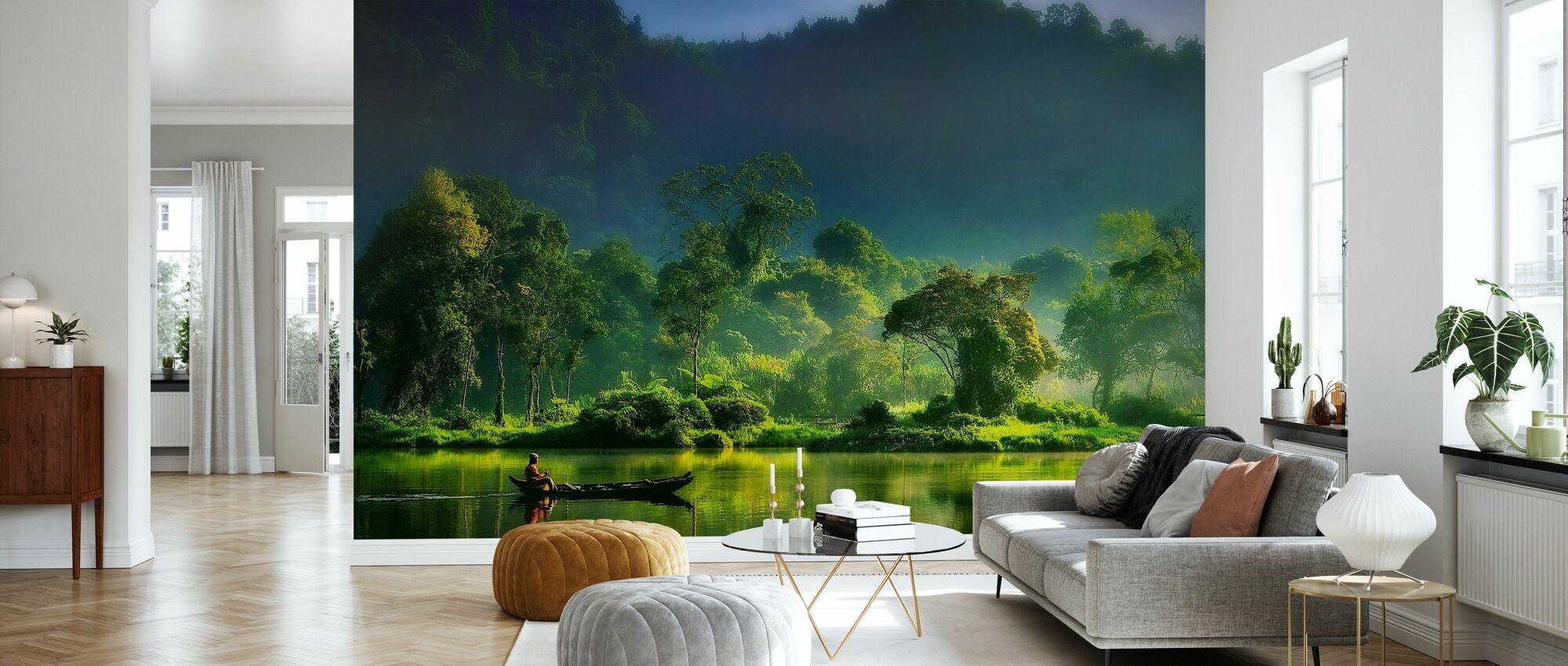 Malerei der Natur - Tapete - Wohnzimmer