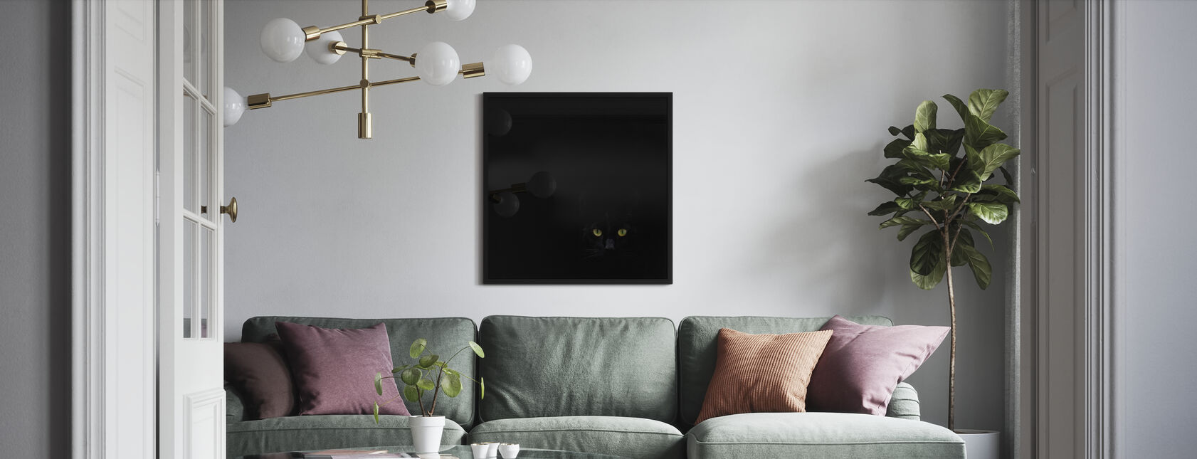 Watching You From The Dark Side - Poster - Living Room