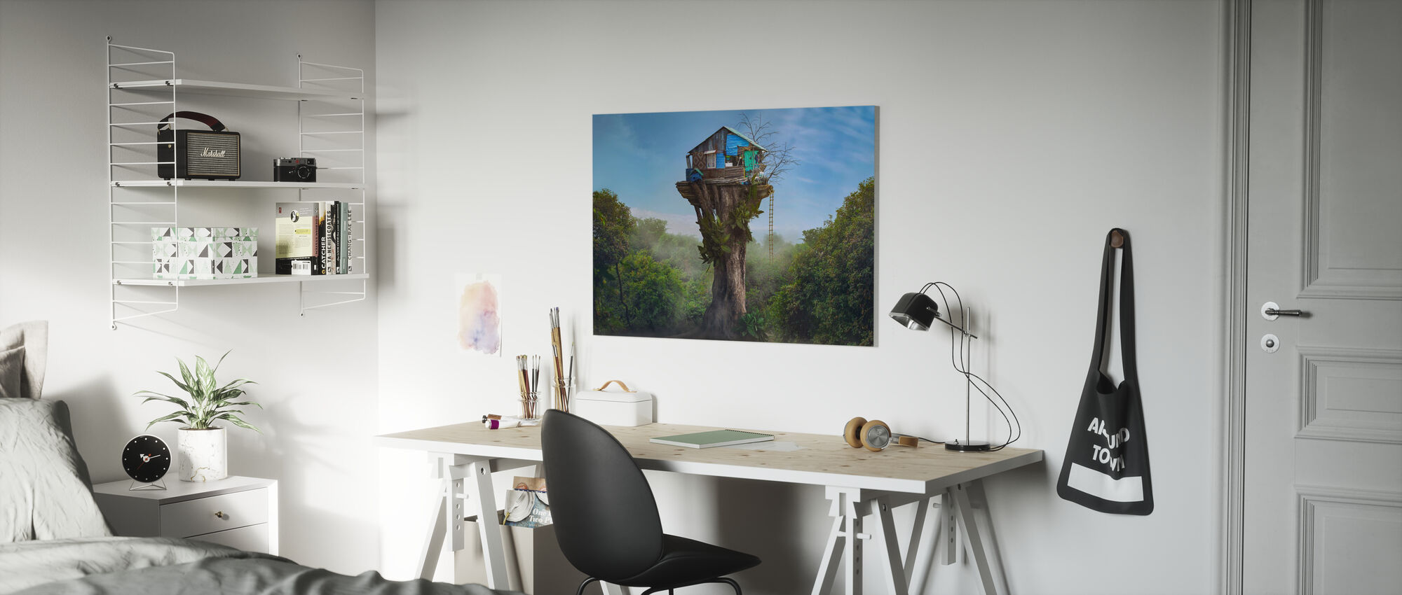 House in the Sky - Canvas print - Kids Room