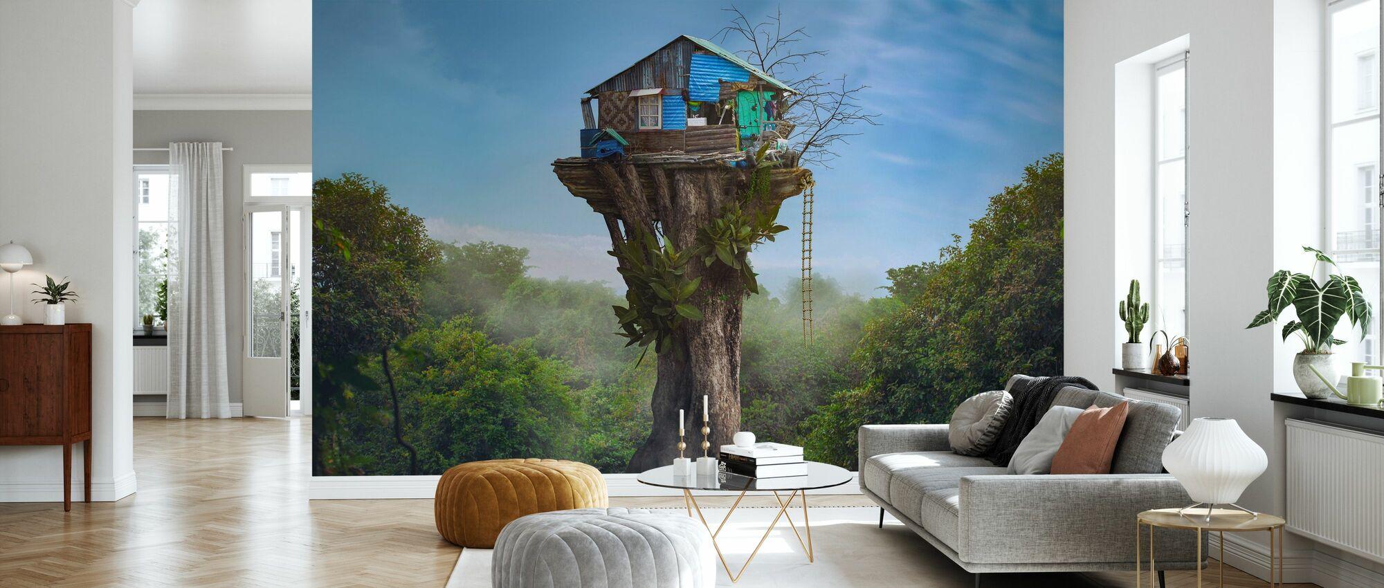 House in the Sky - Wallpaper - Living Room