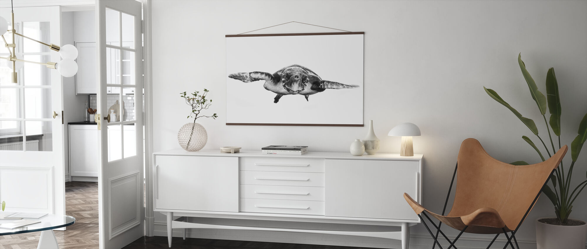 White and Turtle - Poster - Living Room