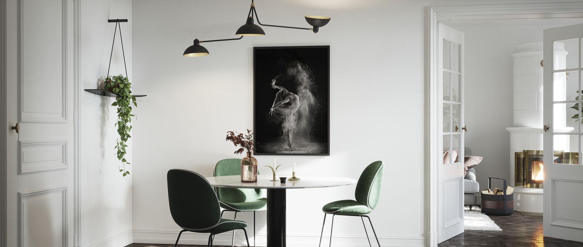 Valossa - Kehystetty kuva - Keittiö