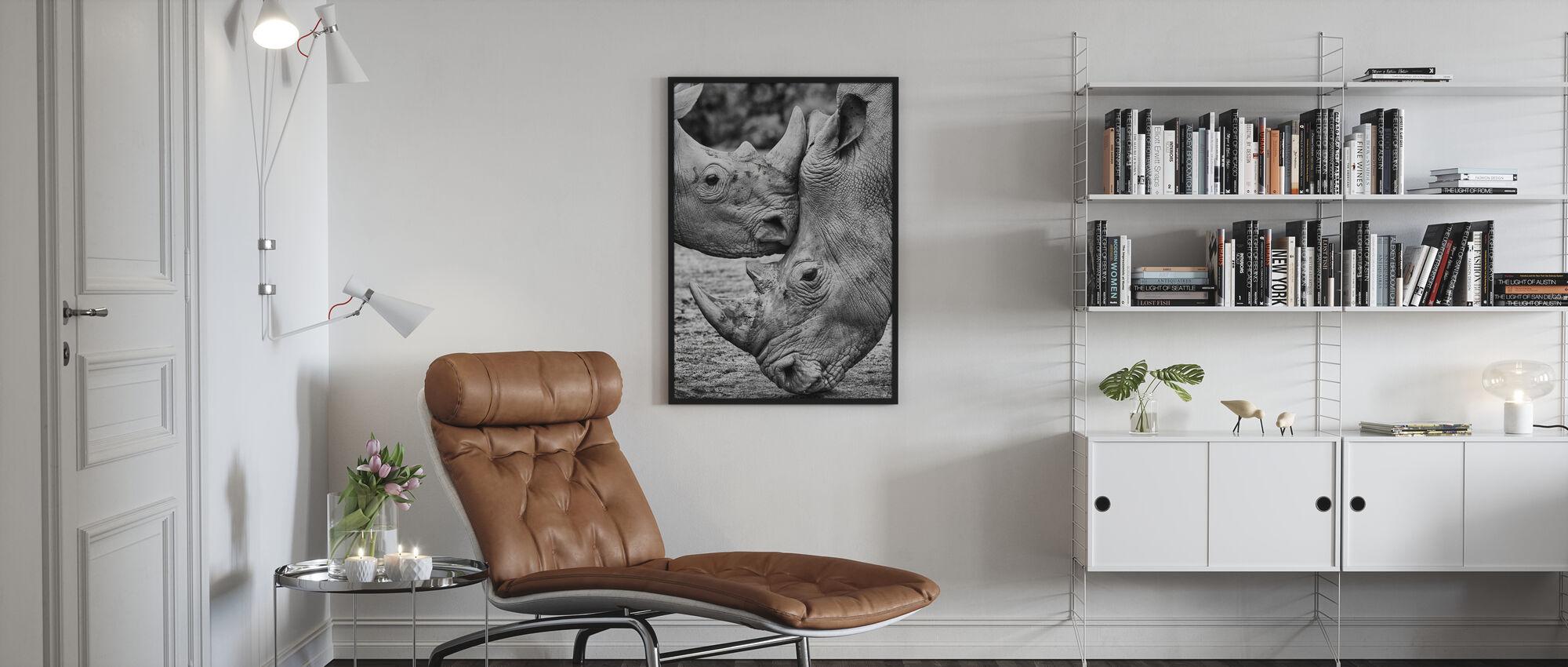 Ansikte mot ansikte - Inramad tavla - Vardagsrum