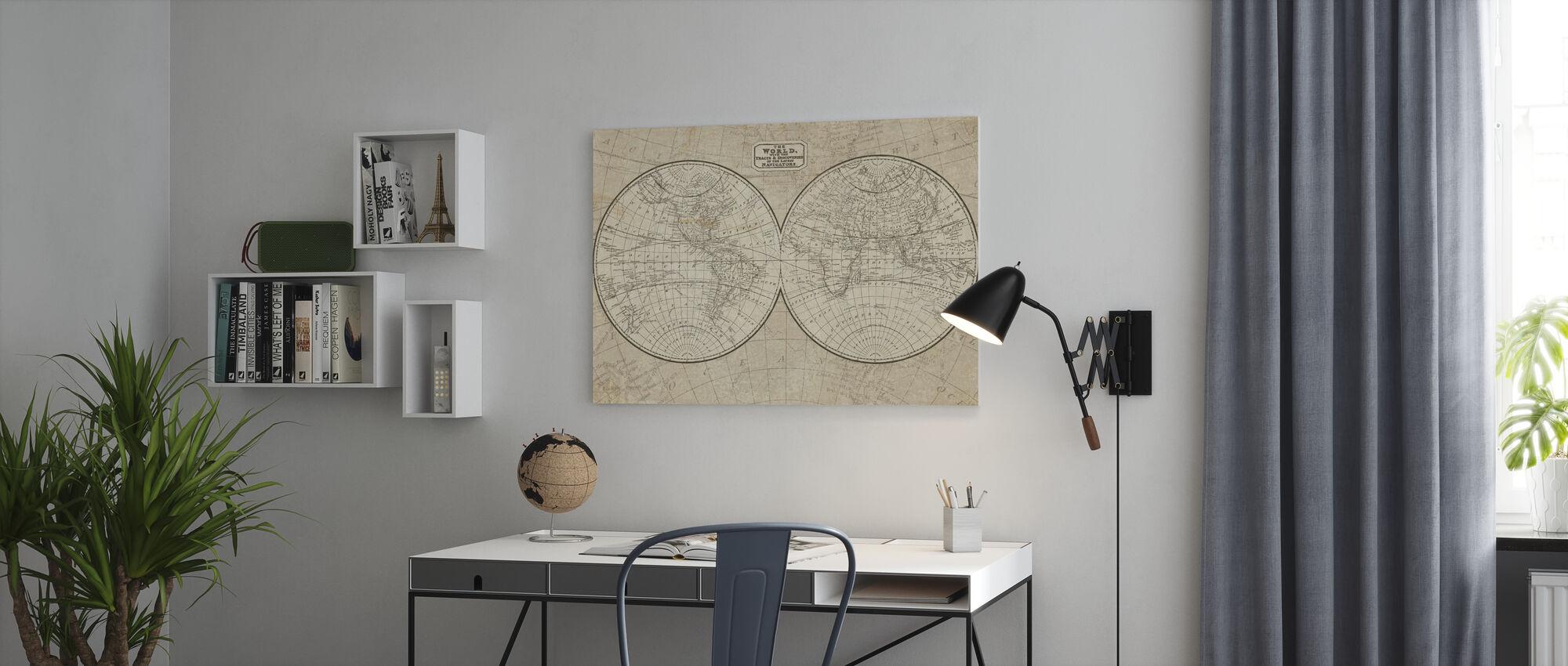 Weltkarte - Leinwandbild - Büro