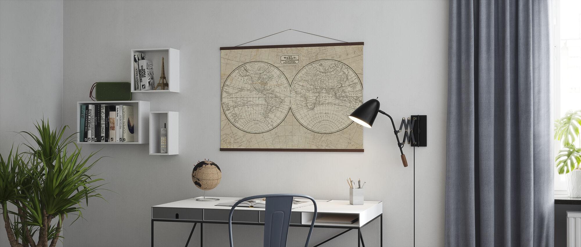 Wereldkaart - Poster - Kantoor